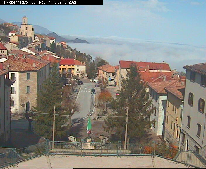 Webcam Pescopennataro IS - Viale Europa 1190 mt